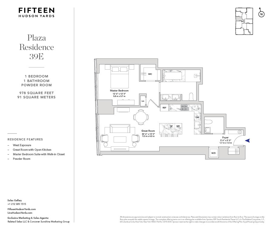 Floorplans At 15 Hudson Yards New York Ny 10001