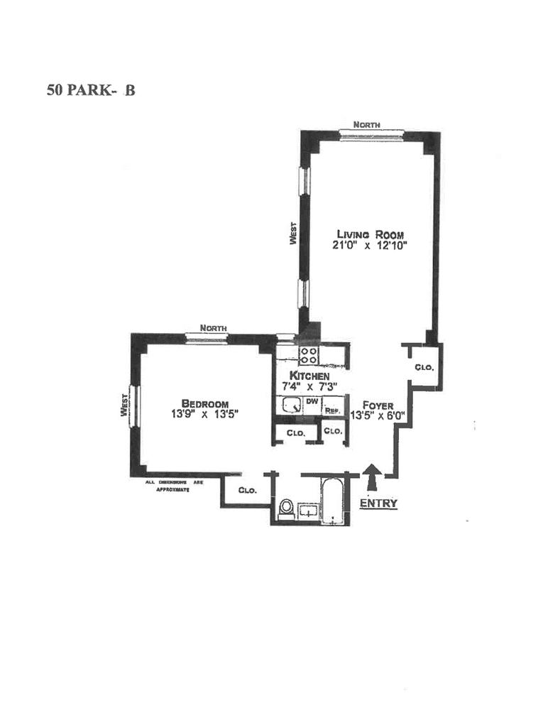 Unit 9B at 50 Park Avenue, New York, NY 10016