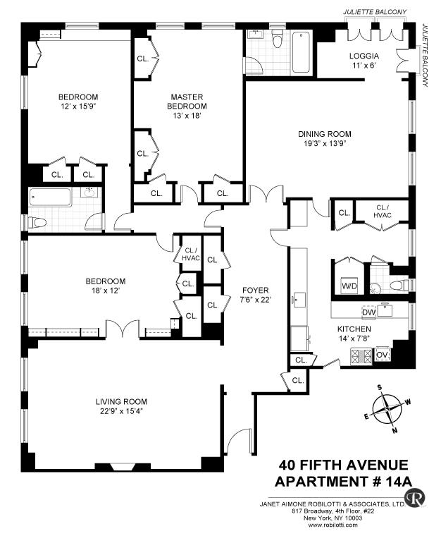 Unit 14A at 40 5th Avenue, New York, NY 10011