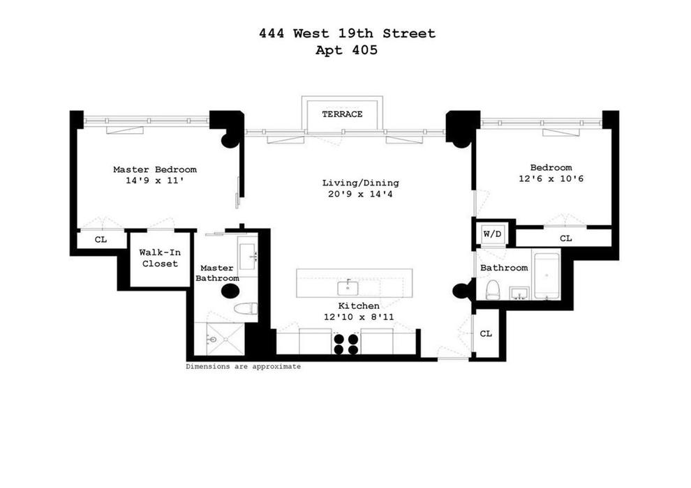 Unit 405 at 444 West 19th Street, New York, NY 10011