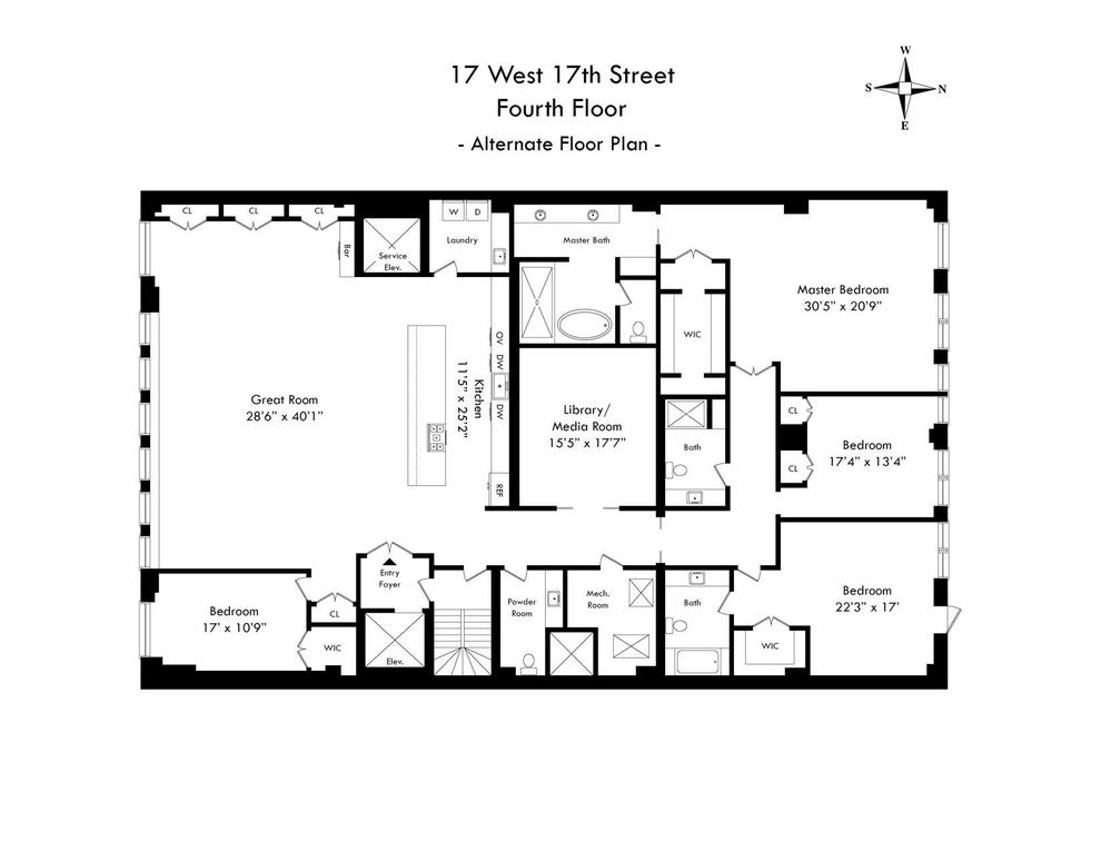 Unit 4FL at 17 West 17th Street, New York, NY 10011