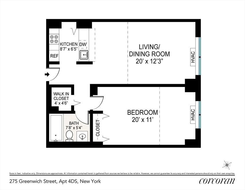 Unit 4D at 275 Greenwich Street, New York, NY 10007