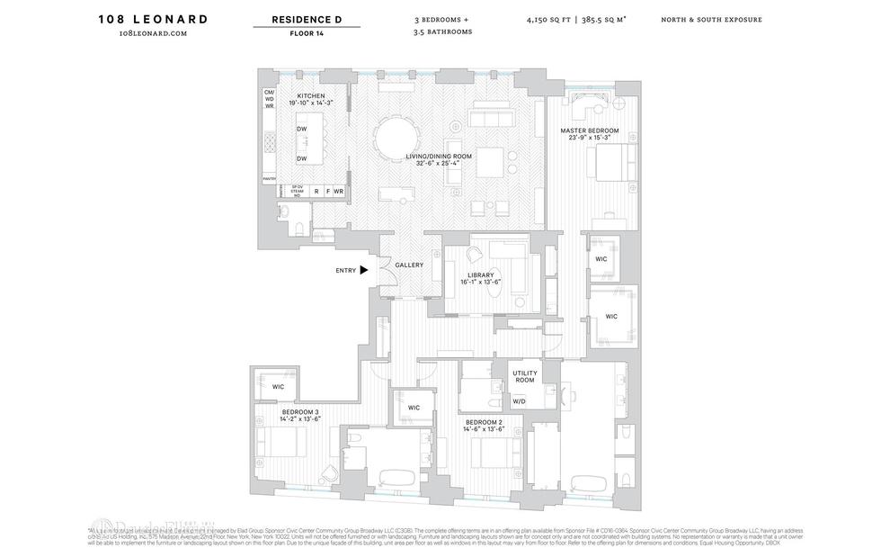 Unit 14D at 108 Leonard Street, New York, NY 10013