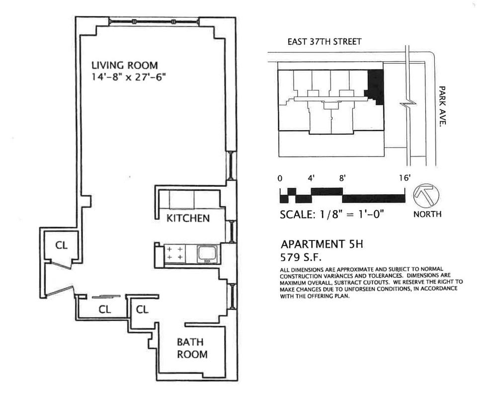 Unit 5H at 30 East 37th Street, New York, NY 10016