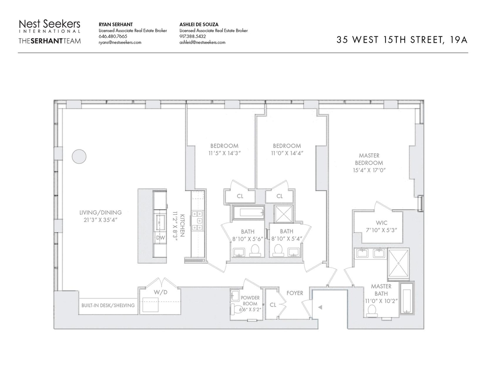 Unit 19A at 35 West 15th Street, New York, NY 10011