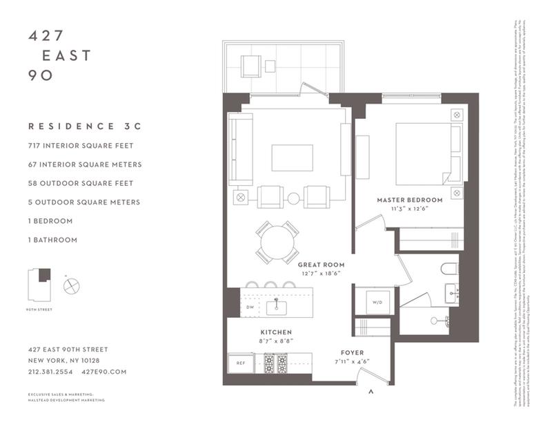 Unit 3C at 427 East 90th Street, New York, NY 10128