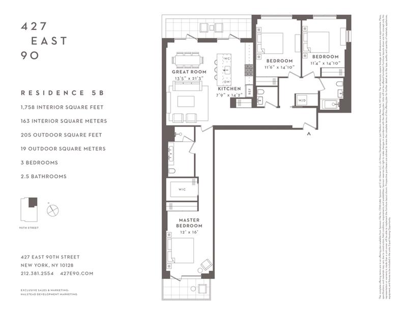 Unit 5B at 427 East 90th Street, New York, NY 10128