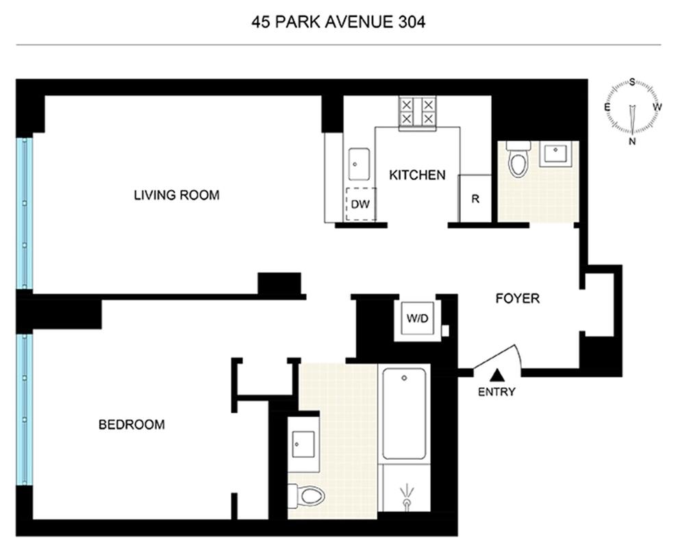 Unit 304 at 45 Park Avenue, New York, NY 10016