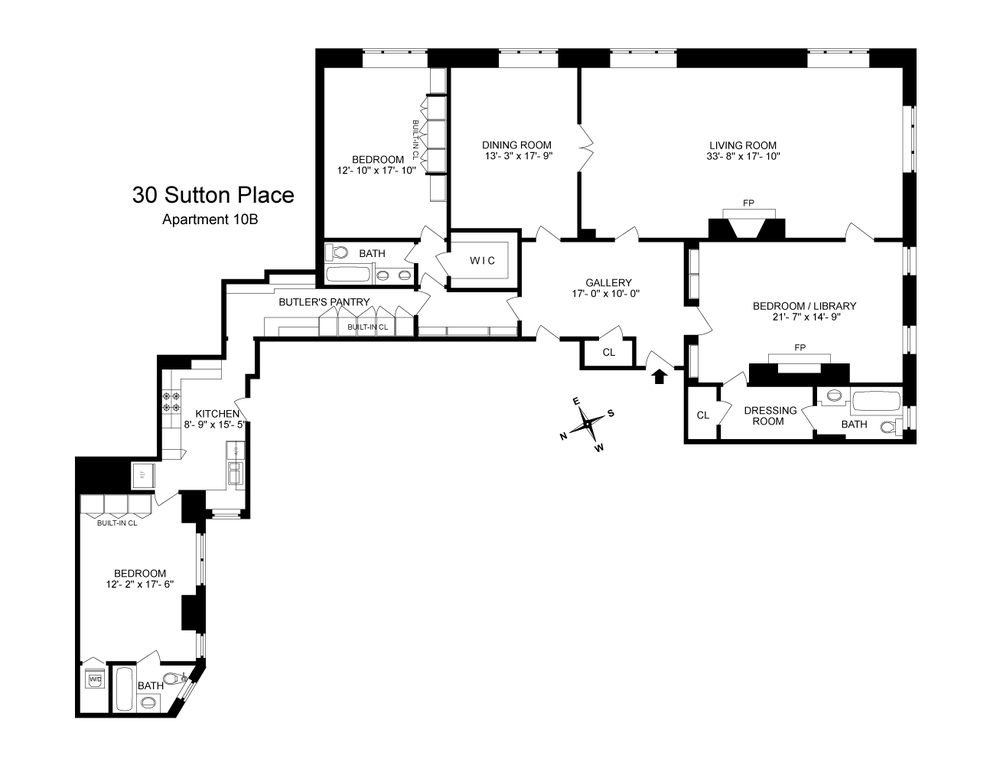 Unit 10B at 30 Sutton Place, New York, NY 10022