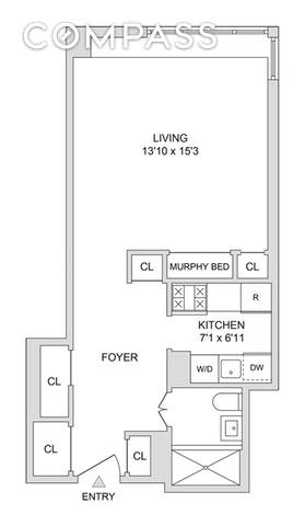 Unit 11YS at 345 West 58th Street, New York, NY 10019
