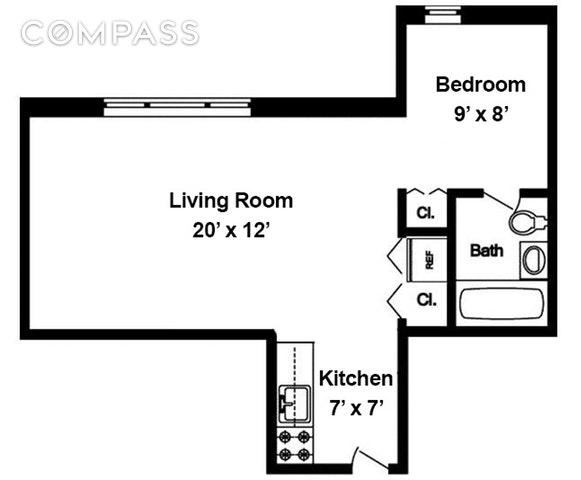 Unit 3J at 45 Overlook Terrace, New York, NY 10033