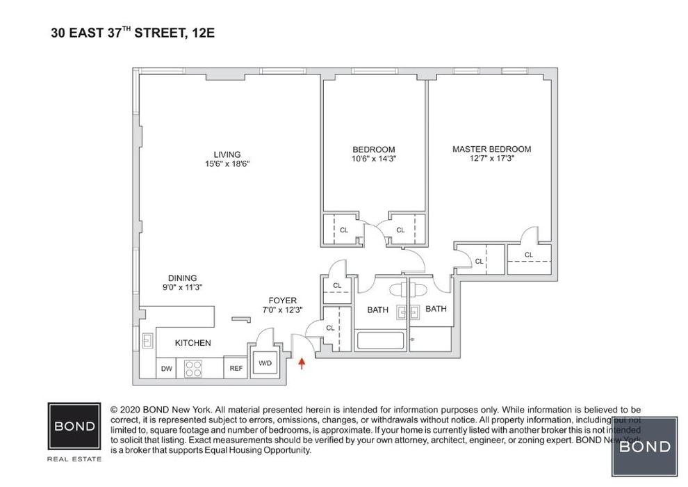 Unit 12E at 30 East 37th Street, New York, NY 10016
