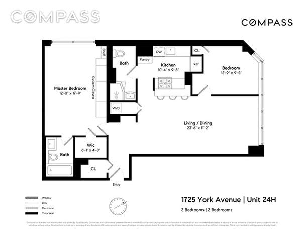 Unit 24H at 1725 York Avenue, New York, NY 10128