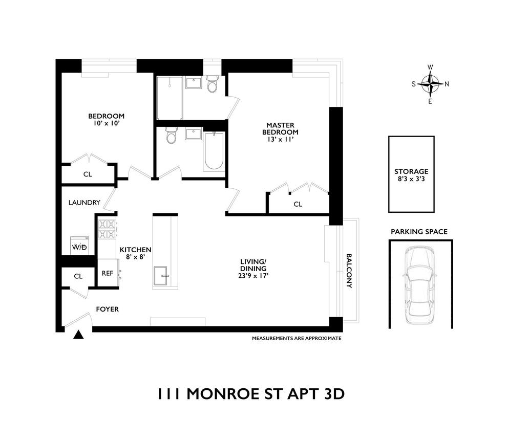 Unit 3D at 111 Monroe Street, Brooklyn, NY 11216