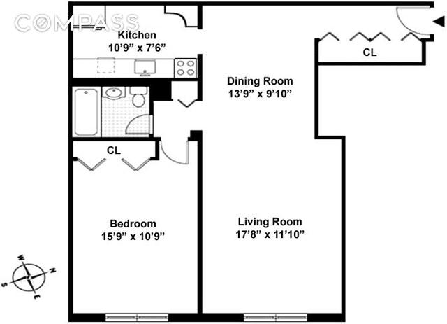 Unit 6B at 45 Overlook Terrace, New York, NY 10033