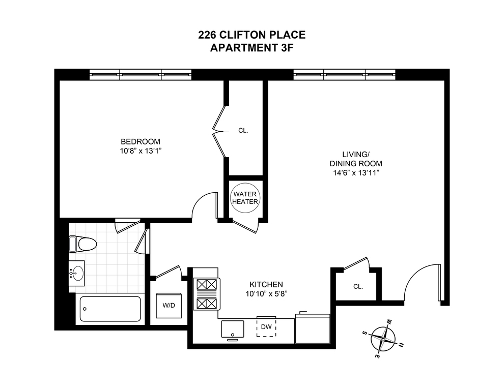 Unit 3F at 226 Clifton Place, Brooklyn, NY 11216