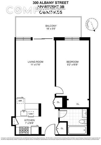 Unit 3B at 300 Albany Street, New York, NY 10280