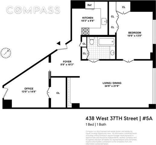 Unit 5A at 448 West 37th Street, New York, NY 10018