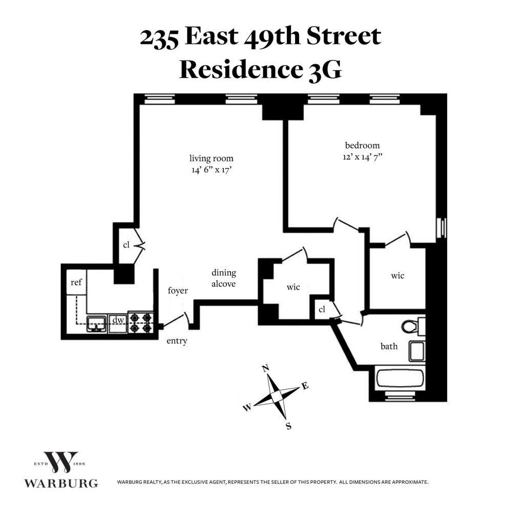 Unit 3G at 235 East 49th Street, New York, NY 10022
