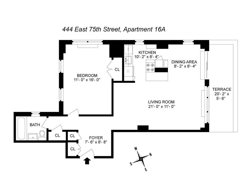 Unit 16A at 444 East 75th Street, New York, NY 10021