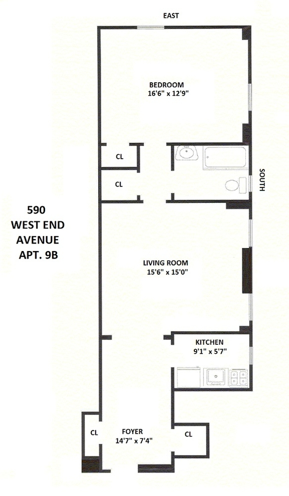 Unit 9B at 590 West End Avenue, New York, NY 10024