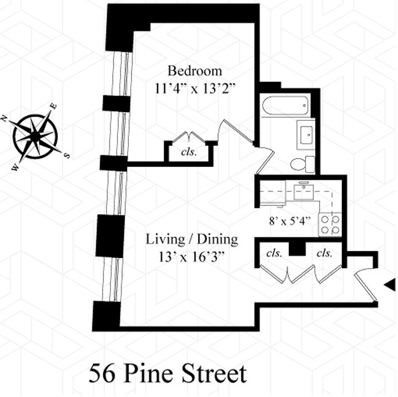 Unit 7F at 56 Pine Street, New York, NY 10005